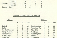 1971 Cricket results